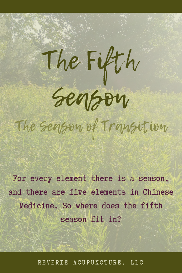 For every element there is a season, and there are five elements in Chinese Medicine. So where does the fifth season fit in?