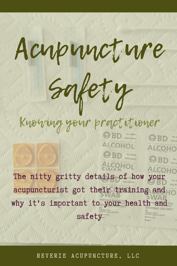 Is your acupuncture provider using the appropriate acupuncture safety techniques? Check out this new blog post for the inside scoop on acupuncture safety.