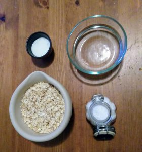 The basic ingredients are oatmeal, water, salt and a fermenting agent