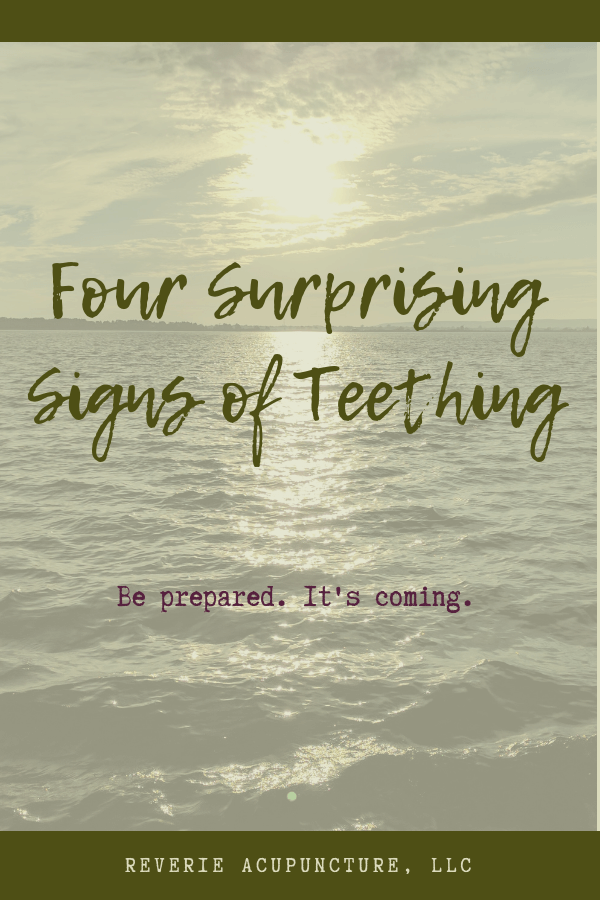 Four surprising signs of teething