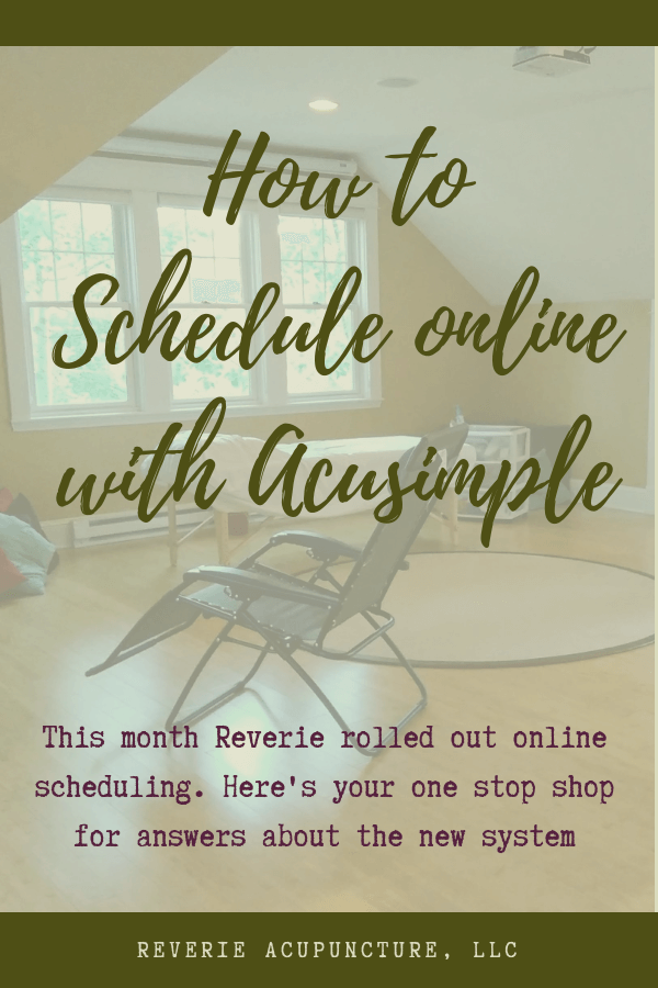 This month Reverie rolled out online scheduling. Here's your one stop shop for answers about the new system