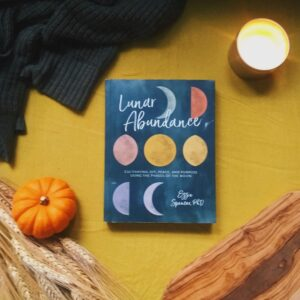 Dr. Spencer breaks manfiestation through natural cues down on a monthly level in her book Lunar Abundance taking us through the yin and yang of the eight moon phases and teaching us how we can use intention setting and the moon cycle to meet our goals.