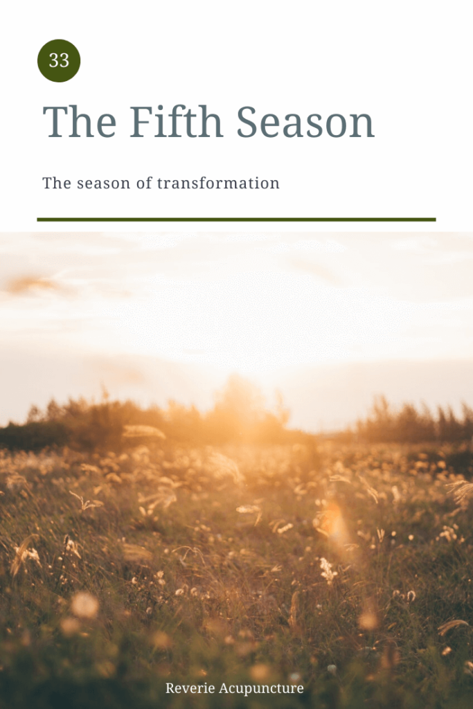 """The fifth season?"" Yes, there's a fifth season. In Chinese Medicine there are 5 ""phases"" or elements and each element creates a category of things that correlate with it – tastes, diseases, smells, emotions and seasons. But there is some misunderstanding about what the fifth season actually is and to clear up that understanding we have to look back to the classics. Featured photo and cover image by Jackson Jorvan from Pexels"