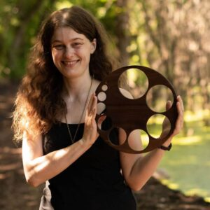 Image of Jessica holding a wooden cervical dilation visual aid. Jessica Gustafson is a licensed acupuncturist in St Paul, MN specializing in women's health and fertility. She loves working with patients through the Health Foundations Birth Center on Grand Avenue in St Paul and doing home visits in the Twin Cities area. Check out the services page for more information! ​ ​Follow Reverie Acupuncture on Facebook, Pinterest and Instagram for updates! Please follow and like Reverie Acupuncture!